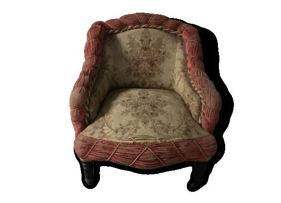 fauteuil crapaud ancien tissu dans son jus classique 108589. Black Bedroom Furniture Sets. Home Design Ideas