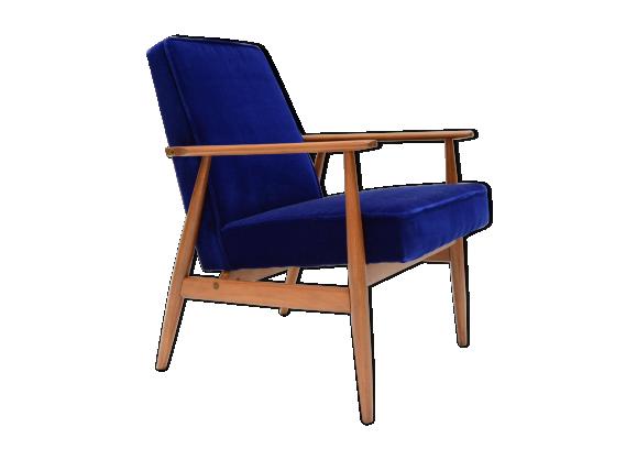 fauteuil sovi tique sign h lis bleu klein tissu bleu bon tat design. Black Bedroom Furniture Sets. Home Design Ideas