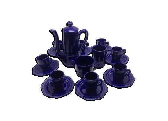 Ancien service à thé en faïence de Longchamp