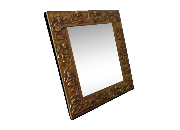 Miroir décor baroque 29x33cm