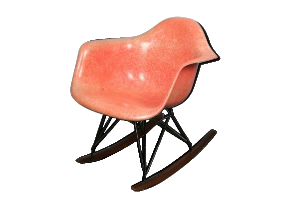 Fauteuil rar red orange Eames zénith plastics herman miller