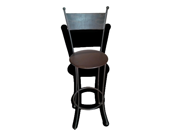 tabouret de bar en fer forg le fait main. Black Bedroom Furniture Sets. Home Design Ideas