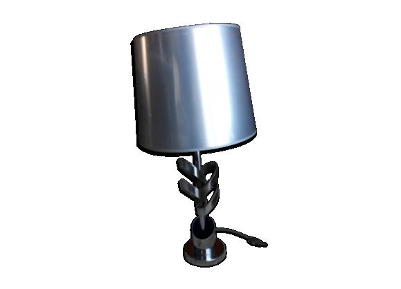 Lampe en aluminium brossé années 70