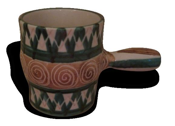 Pot, céramique robert picault, vallauris 1950