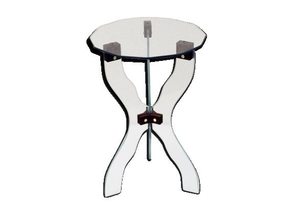Table basse en cristal taillé, italie, 1950