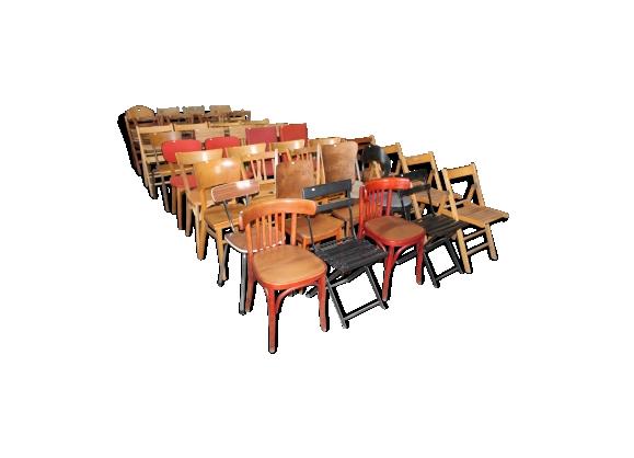 Lot de 48 chaises dépareillées