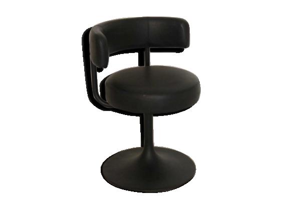 chaise vintage pivotante pied tulipe ska noir bon. Black Bedroom Furniture Sets. Home Design Ideas
