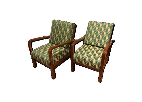 Paire de fauteuils inclinables art déco 1930