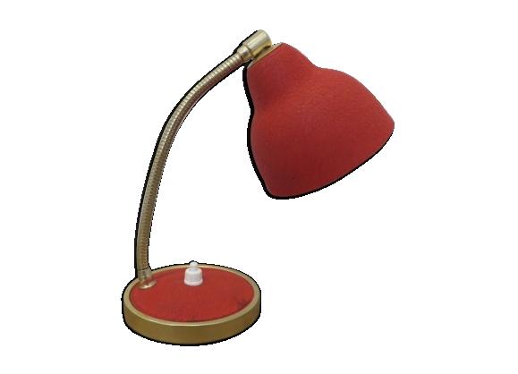 Lampe cocotte rouge années 50-60