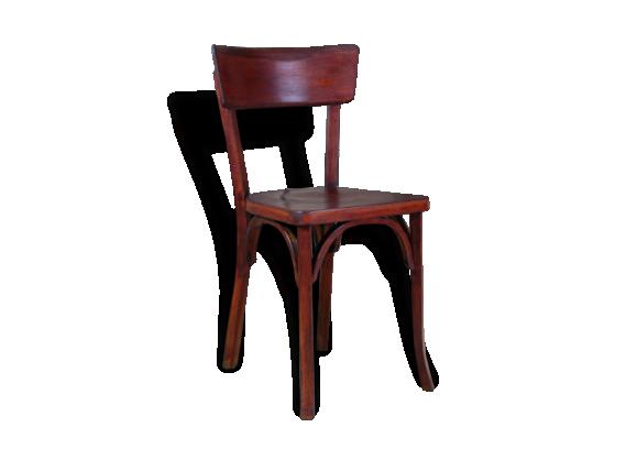 chaise de bistrot baumann bois mat riau bon tat vintage 106604. Black Bedroom Furniture Sets. Home Design Ideas