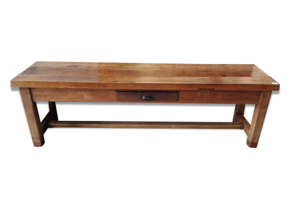Grande table de ferme xixe table gibier ch ne massif - Table ferme chene ...