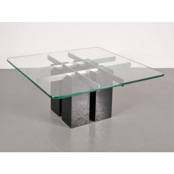 Table basse en verre transparent for Meuble tv en verre transparent
