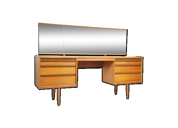 coiffeuse en teck vintage teck bois couleur bon tat vintage. Black Bedroom Furniture Sets. Home Design Ideas