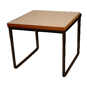 Table basse de couleur blanche vintage d 39 occasion - Table basse annee 50 60 ...