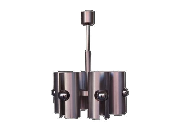 Lustre 1970 design aluminium brossé