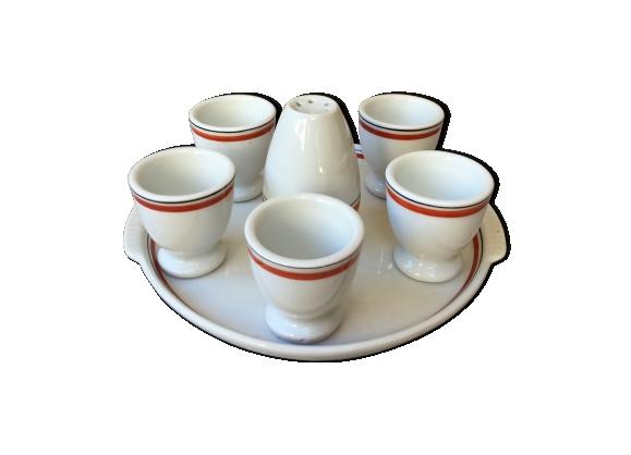 Service de coquetiers porcelaine d'auteuil