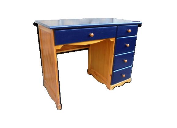 Petit bureau mado 70 39 s bois mat riau multicolore for Petit bureau bois