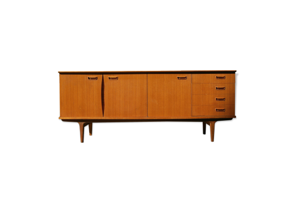 enfilade scandinave en teck des ann es 50 60 bois mat riau marron bon tat scandinave. Black Bedroom Furniture Sets. Home Design Ideas