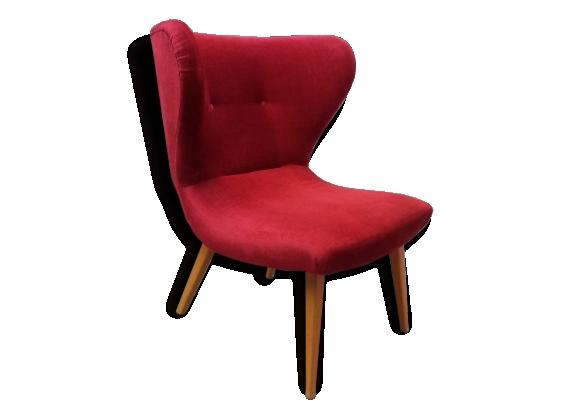 Rare fauteuil cocktail chauffeuse années 50 design sculpturale Elias Svedberg