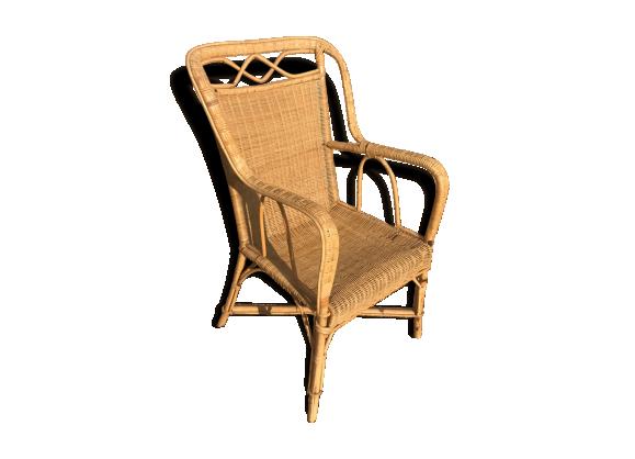 fauteuil en rotin rotin et osier bois couleur bon tat thnique. Black Bedroom Furniture Sets. Home Design Ideas