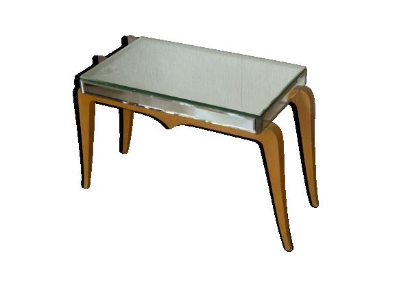 table basse miroir art d co bois mat riau dor bon tat art d co. Black Bedroom Furniture Sets. Home Design Ideas