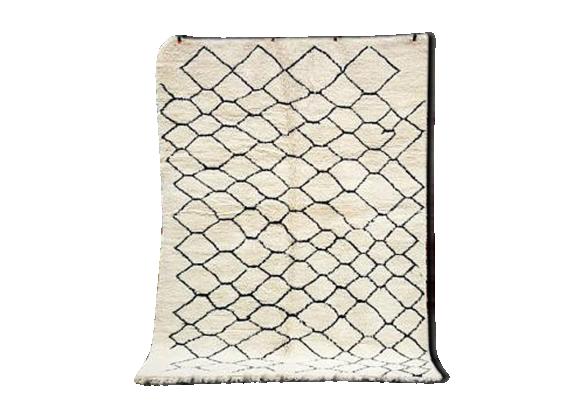tapis marocain beni ourain berb re kilim 300 x 215 cm tissu multicolore bon tat. Black Bedroom Furniture Sets. Home Design Ideas