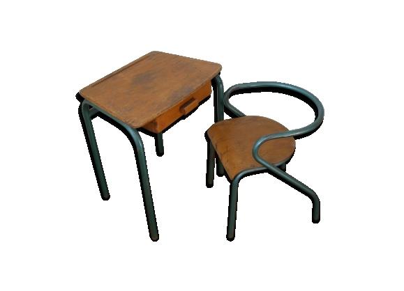 bureau et chaise enfant mullca 300 jacques hitier le fait main. Black Bedroom Furniture Sets. Home Design Ideas