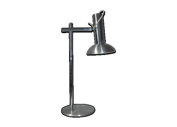 Lampe de bureau aluminium brossé design 70's