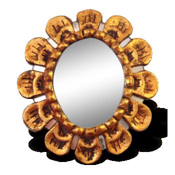 Petit miroir en bois doré