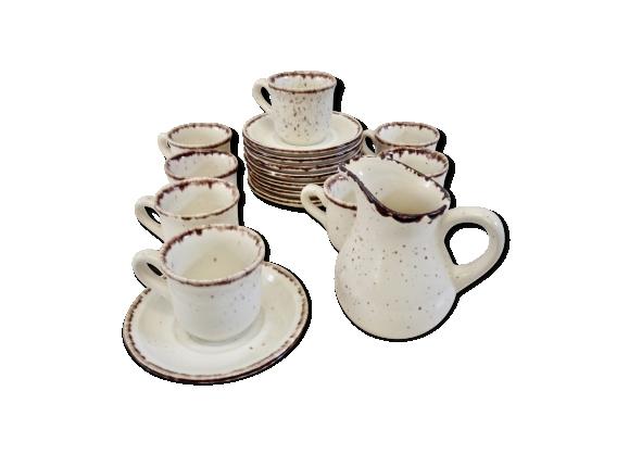 Services à café en faîence de Gien