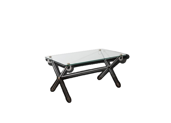 Table basse métal/verre