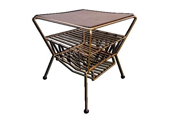 Table basse porte revues design 1960