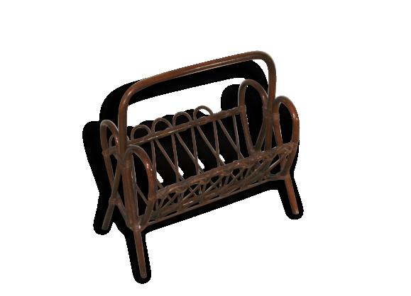 porte revues en rotin vintage rotin et osier marron. Black Bedroom Furniture Sets. Home Design Ideas
