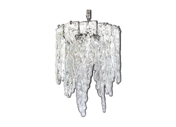 Suspension italienne Ice par Murano Mazzega