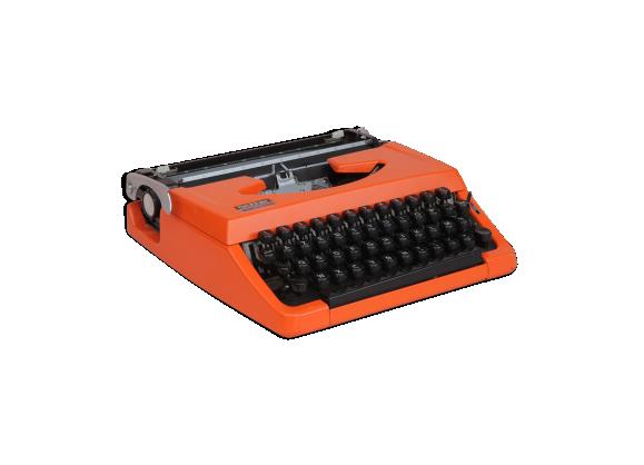 machine crire brother 210 orange fer orange bon tat industriel. Black Bedroom Furniture Sets. Home Design Ideas