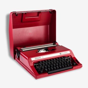machine crire portable japy mod le script m tal bleu dans son jus vintage. Black Bedroom Furniture Sets. Home Design Ideas