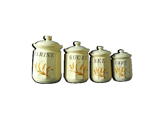 Lot de 4 pots à épices