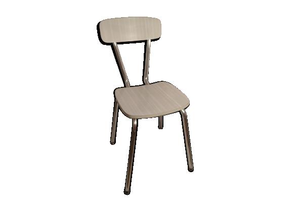 chaise cuisine formica blanc gris métal 39 chaise ancienne de cuisine