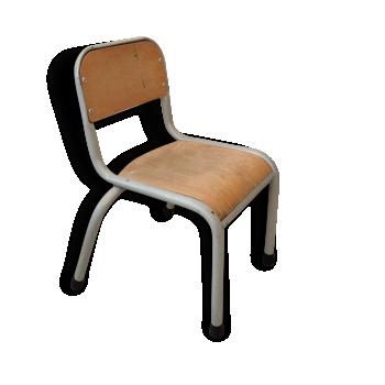 Chaise enfant ancienne chaise haute vintage d 39 occasion - Chaise d ecolier vintage ...