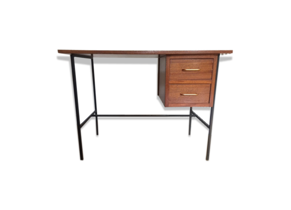 bureau ann es 50 bois mat riau bois couleur dans son jus vintage. Black Bedroom Furniture Sets. Home Design Ideas