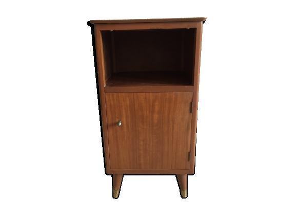 table de chevet bois mat riau bois couleur bon tat vintage. Black Bedroom Furniture Sets. Home Design Ideas