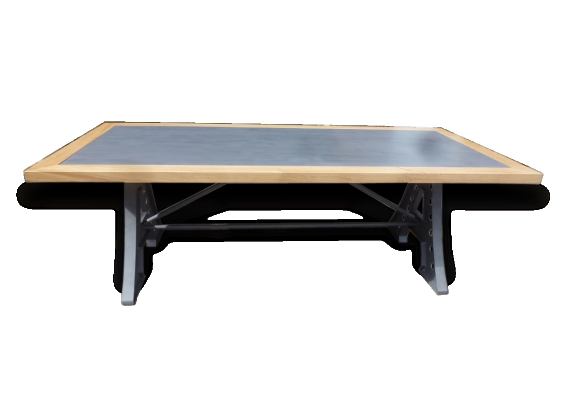 Grande table industrielle de salle manger cuisine r union bureau le fait main for Grande table industrielle