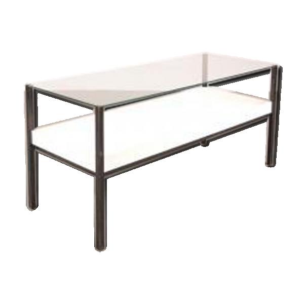 Table basse en acrylique transparent - Table basse teck et verre ...