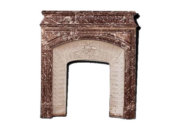 Cheminée style Louis XVI marbre rouge