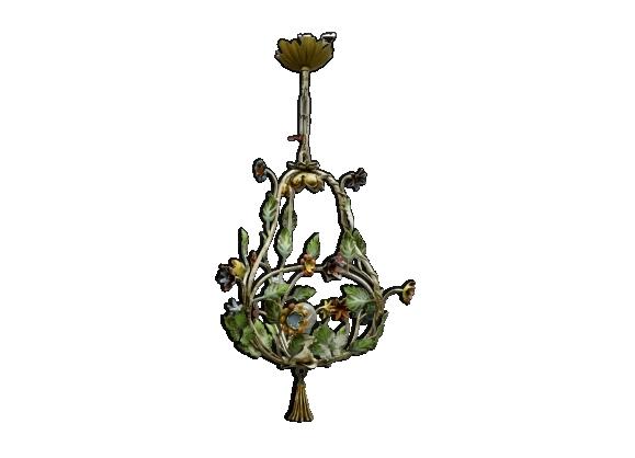 Lustre à fleurs en porcelaine