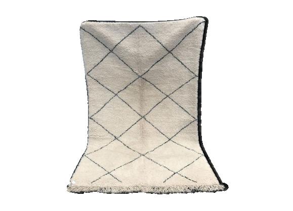 tapis berb re beni ouarain 250x156cm tissu multicolore bon tat thnique. Black Bedroom Furniture Sets. Home Design Ideas