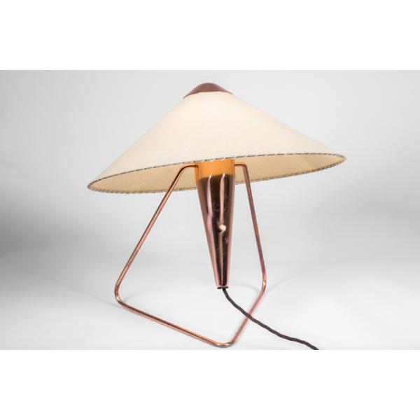 lampe d 39 helena frantova pour napako tchekoslovaquie 1953 cuivre rose bon tat design. Black Bedroom Furniture Sets. Home Design Ideas