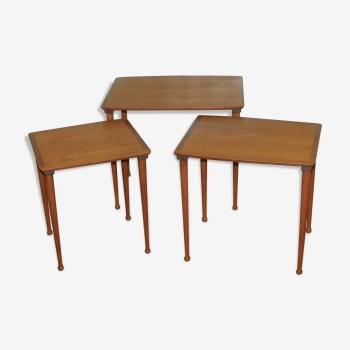 Tables gigognes scandinave en teck années 60
