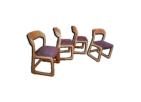 suite de quatre chaises baumann tra neau vintage bois. Black Bedroom Furniture Sets. Home Design Ideas