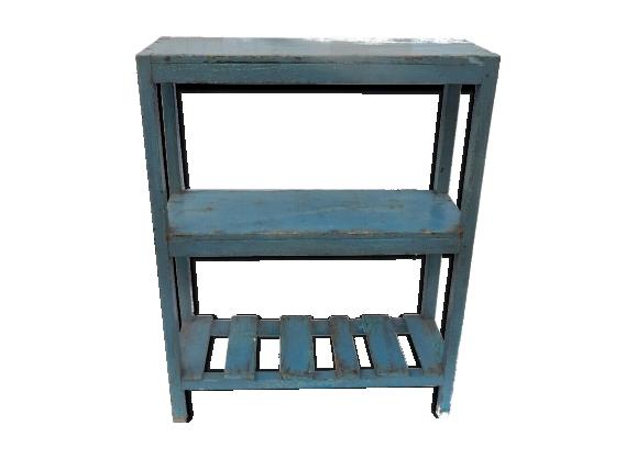 Etagere étroite meuble vieux teck